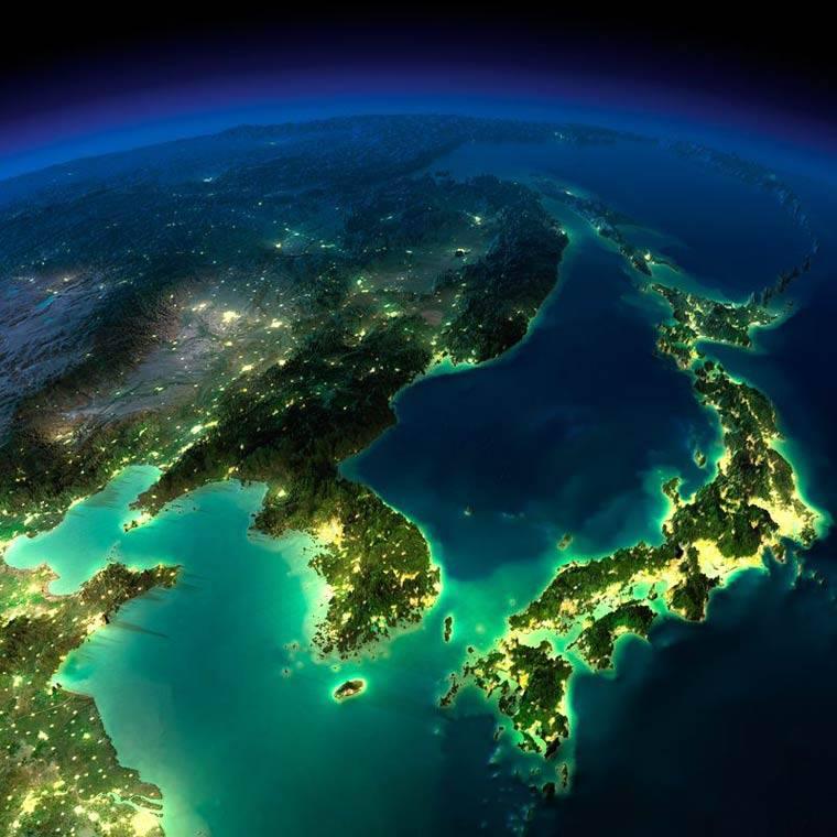 Foto espacio Asia
