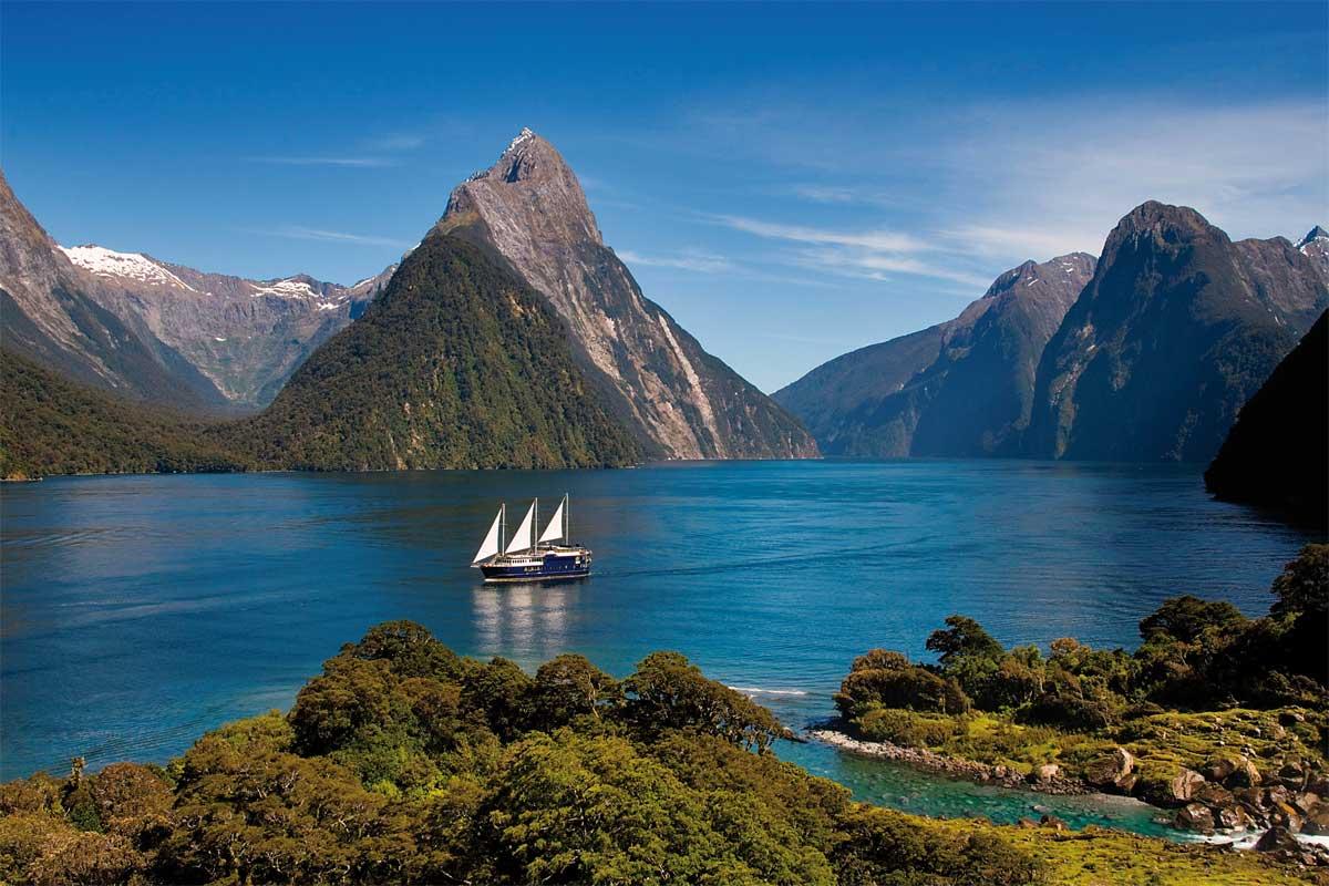 Vista montañas Nueva zelanda