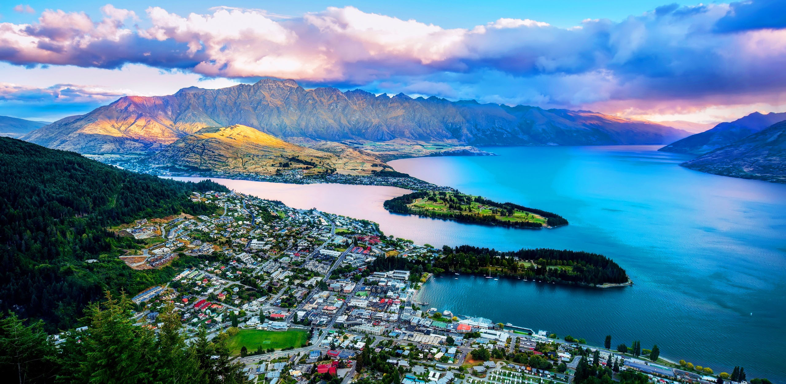 vista de lago en nueva zelanda